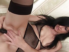 With long dark hair, sexy thighs and a pussy that can still take a big dildo, 48 y. o. Debs shows us how she likes to masturbate. She's a wild one and has a lot more experience then she used to when she was younger. Check her out and how lustfully this mature bitch fucks her shaved sweet pussy. She needs our attention