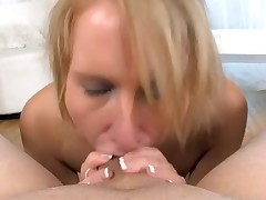 Sexy hottie is charming dude with wicked oral job