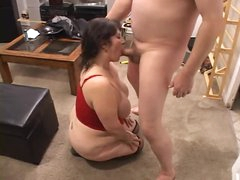Fat mature drilled by her spouse