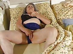 Although our granny is so old that she barely moves the fucking slut still needs to fuck. Cornel rubs her saggy pussy and then receives some help from her girl. She kisses those old wrinkled boobs and helps her undress so they can have some lesbian action. The bitches want to get dirty so why not watch them and enjoy