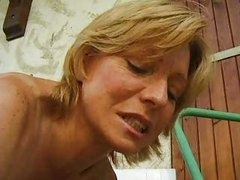 Colette Sigma mature blond fist anal in car troia takes hard cock in the ass all the way tits